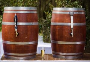 beer in wine barrels